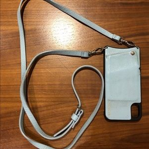 Bandolier iPhone X/XS case/wallet with strap